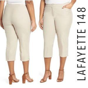 Lafayette 148 NWT Manhattan Skinny Capri Pants 14W